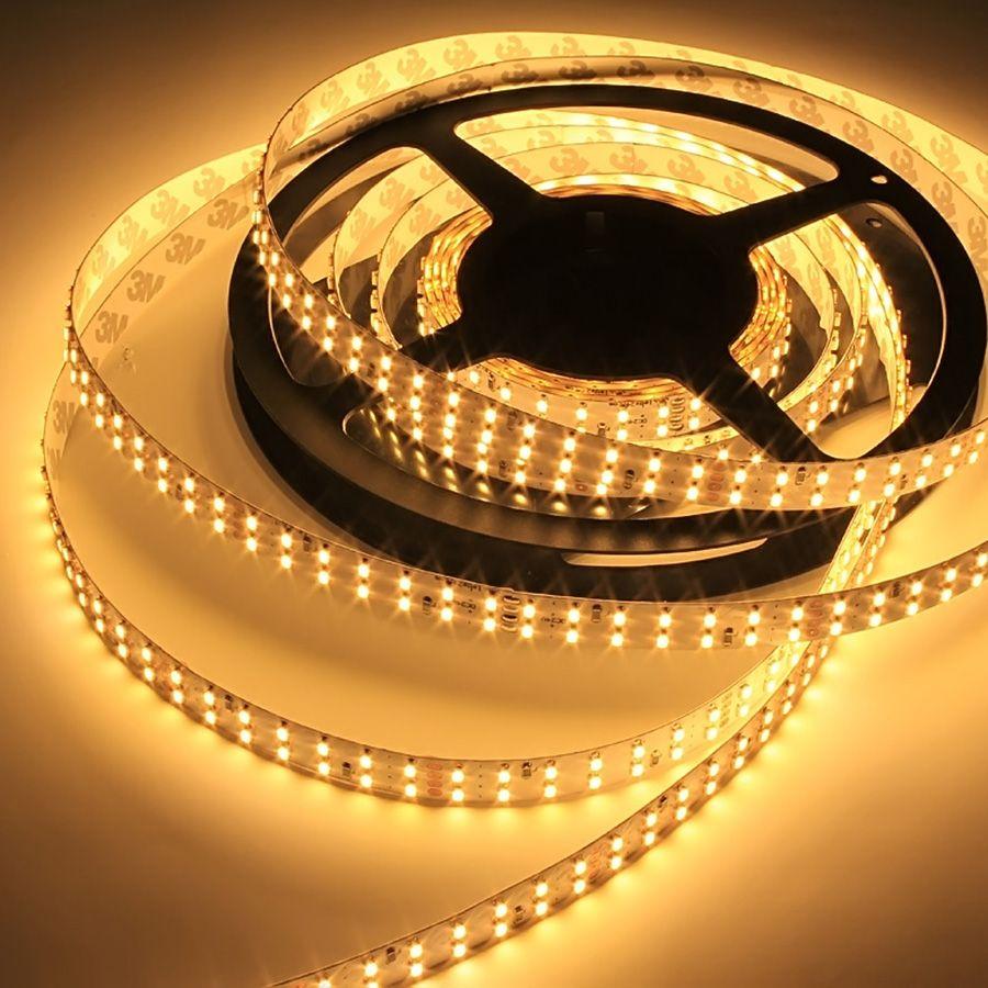 24V TWIN LED Streifen – warmweiß – 224 LEDs je Meter – alle 6,25cm teilbar