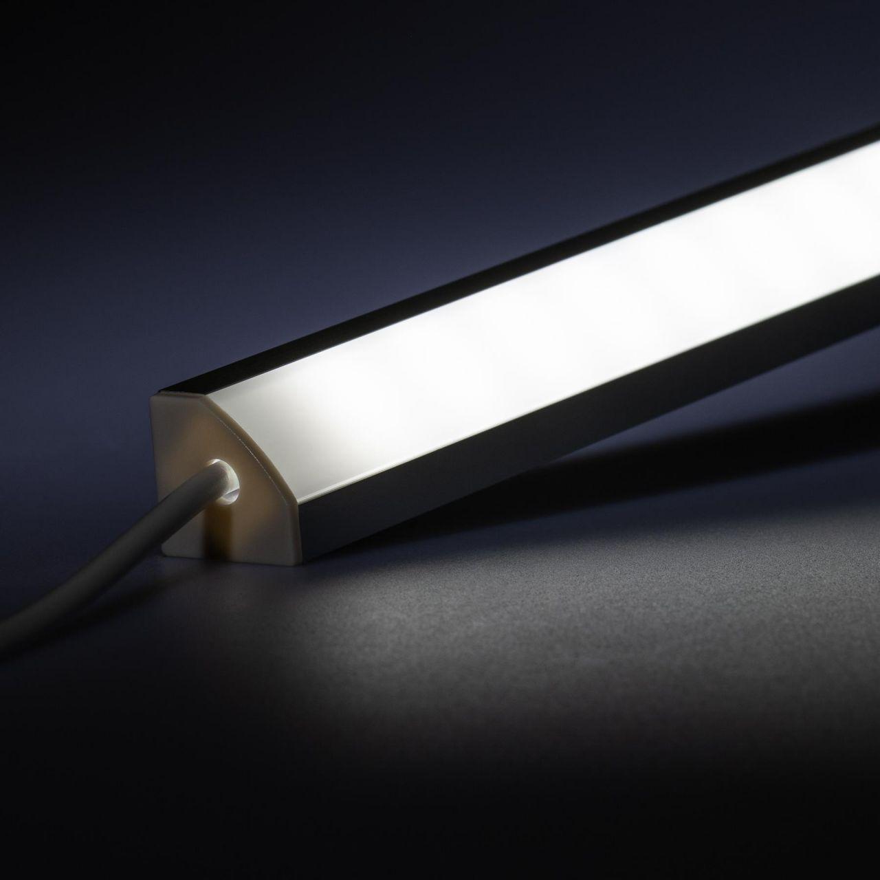 12V Aluminium LED Eckleiste – High Power - weiß – diffuse Abdeckung