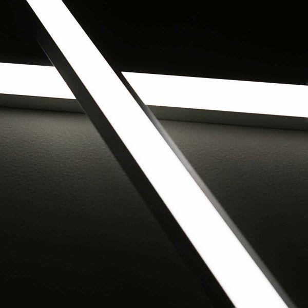 24V LED-Eckleiste diffus - weiß 6000K - ab 33cm mit 42 LEDs bis 198cm mit 273 LEDs