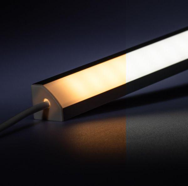 24V Aluminium LED Eckleiste – einstellbare Farbtemperatur – diffuse Abdeckung