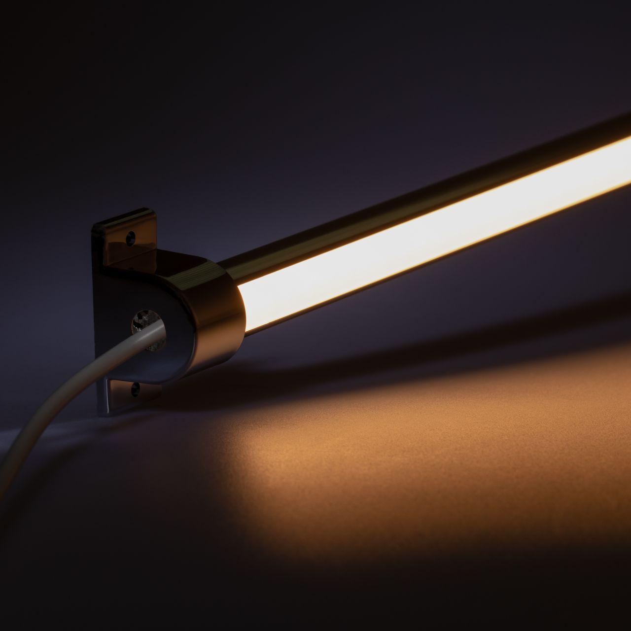 24V Aluminium LED Leiste - einstellbare Abstrahlrichtung– warmweiß – diffuse Abdeckung