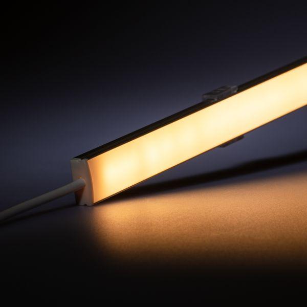 24V Slim-Line Aluminium LED Leiste – warmweiß – diffuse Abdeckung