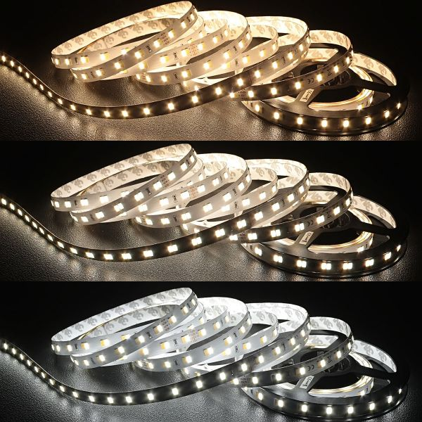 CCT-LED-Strip Komplett-SET kaltweiß & warmweiss einstellbar - 5m 700 LEDs 24V