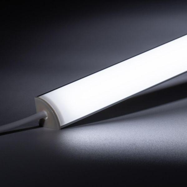 24V Aluminium LED Eck Leiste rund – weiß – diffuse Abdeckung