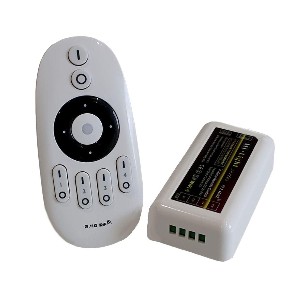 4 Zonen Funk LED Dimmer – 2 Kanal – mit Touch-Fernbedienung