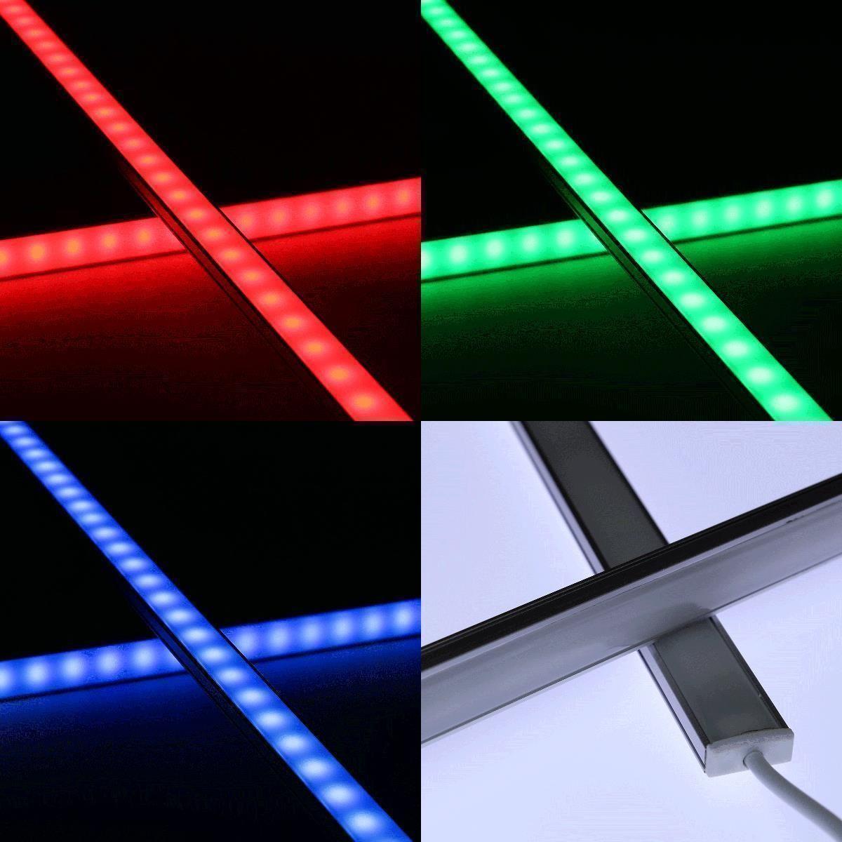 24V Slim-Line Aluminium LED Leiste – RGB – diffuse Abdeckung