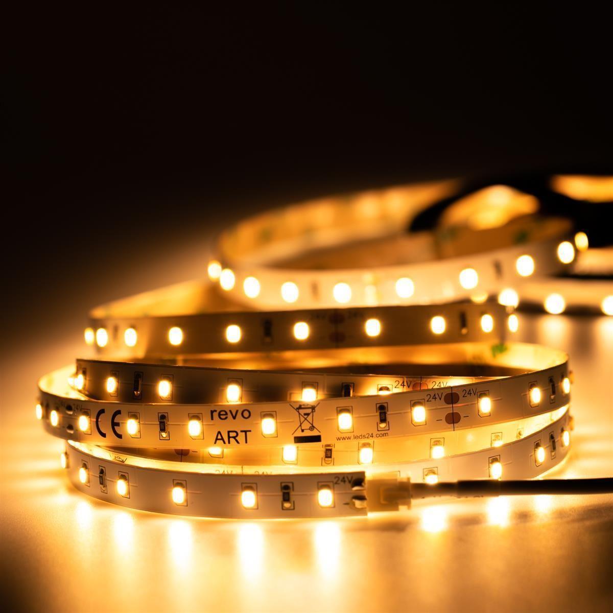 24V LED Streifen – warmweiß – 60 LEDs je Meter – alle 10cm teilbar