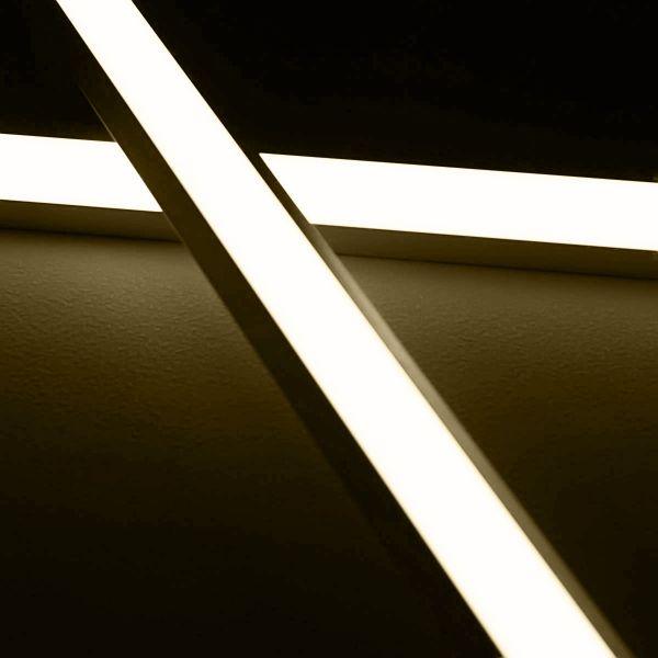 24V LED-Eckleiste diffus - tageslichtweiß 4000K - ab 33cm mit 42 LEDs bis 198cm mit 273 LEDs
