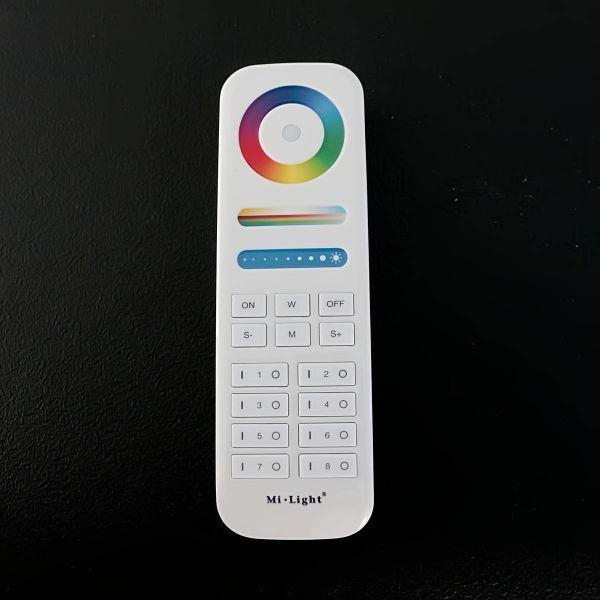 8 Zonen Funk LED Controller – 4 Kanal – RGBW – mit Touch-Fernbedienung