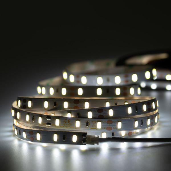 12V High-Power LED Streifen – weiß – 60 LEDs je Meter – alle 5cm teilbar