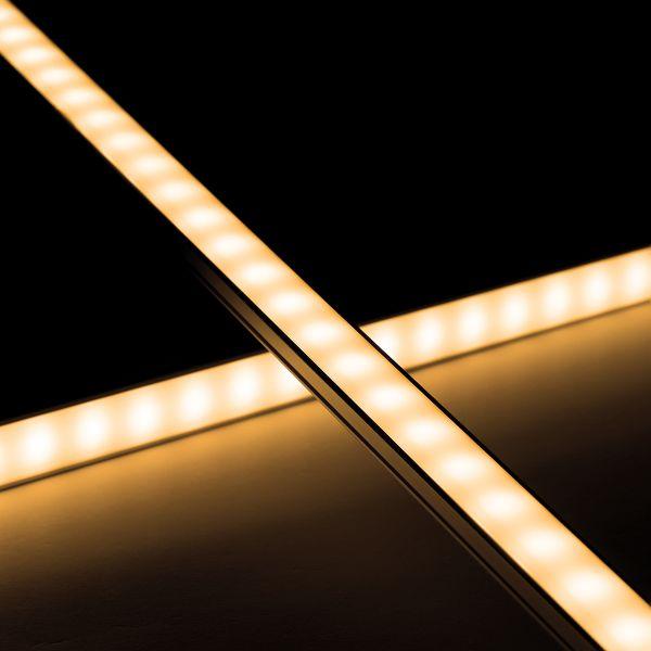 Slim-Line Alu LED-Lichtleiste ab 33cm mit 18x 5630 LEDs - Abdeckung diffus - 12V - warmweiß