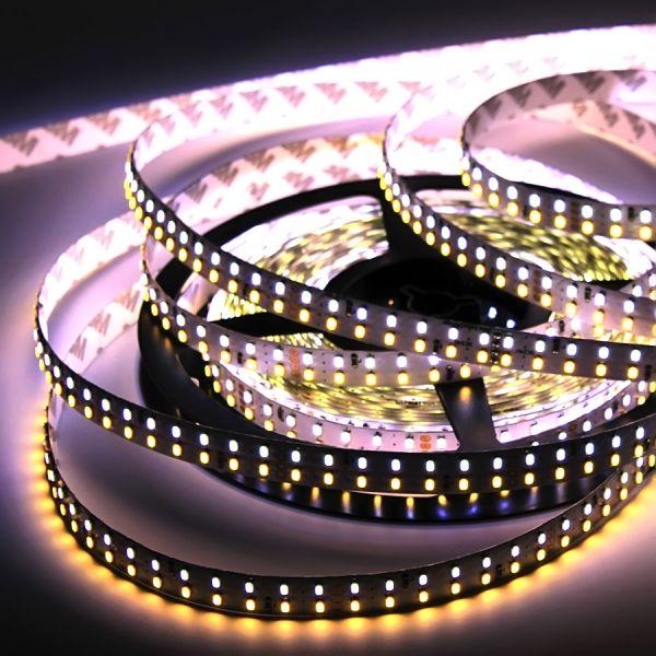 24V TWIN LED-Streifen flexibel 14x SMD LEDs je 6.25cm - Farbtemperatur einstellbar (ab 25,60Euro/m)