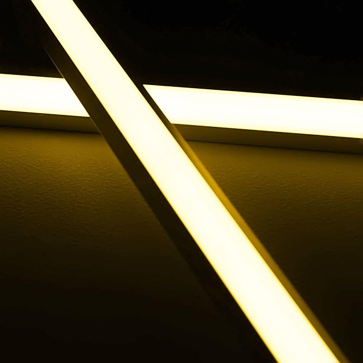 24V Aluminium LED Eckleiste – warmweiß – diffuse Abdeckung
