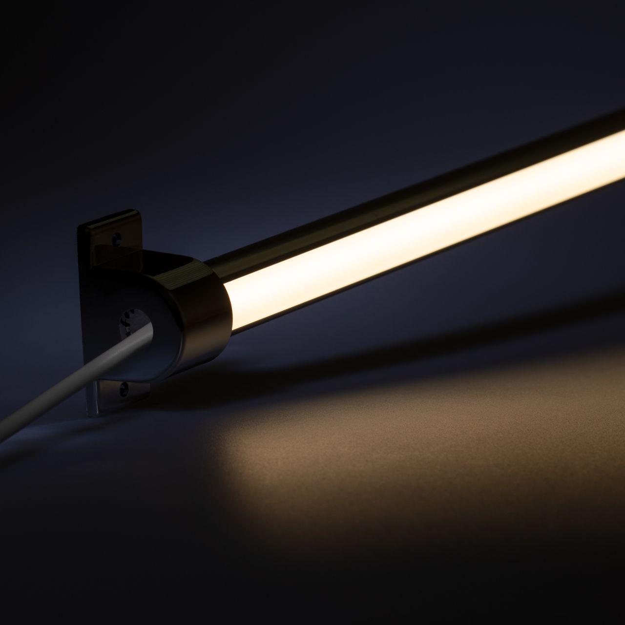24V Aluminium LED Leiste - einstellbare Abstrahlrichtung – COB - tageslichtweiß – diffuse Abdeckun