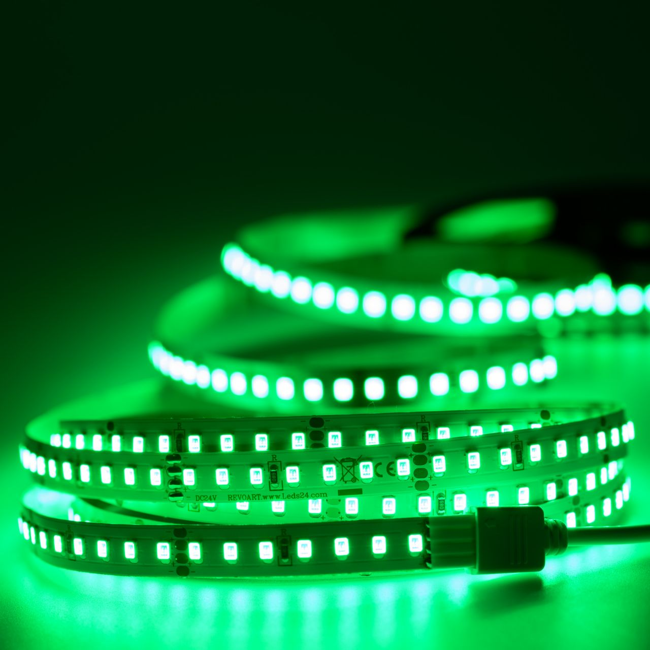 24V LED Streifen – grün – 140 LEDs je Meter – alle 5cm teilbar