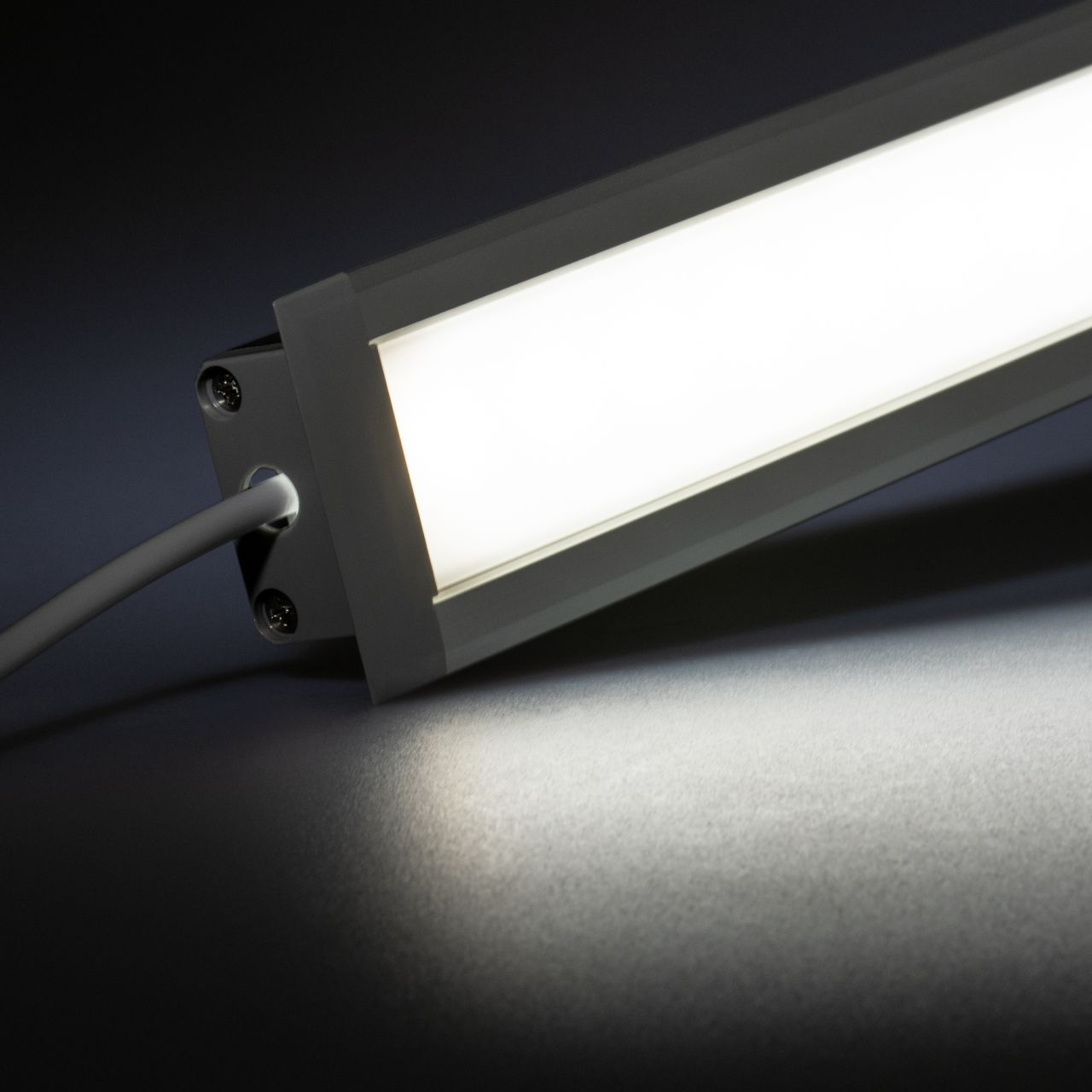 12V Aluminium Einbau LED Leiste – High Power - weiß – diffuse Abdeckung