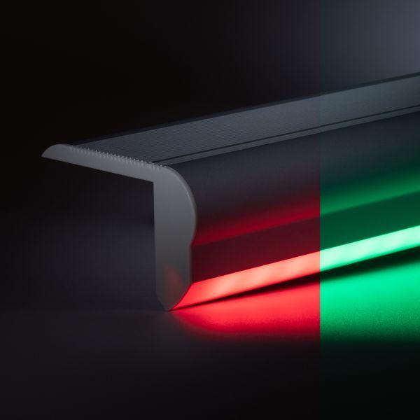 12V Aluminium Treppenstufen LED Leiste - RGB - diffuse Abdeckung