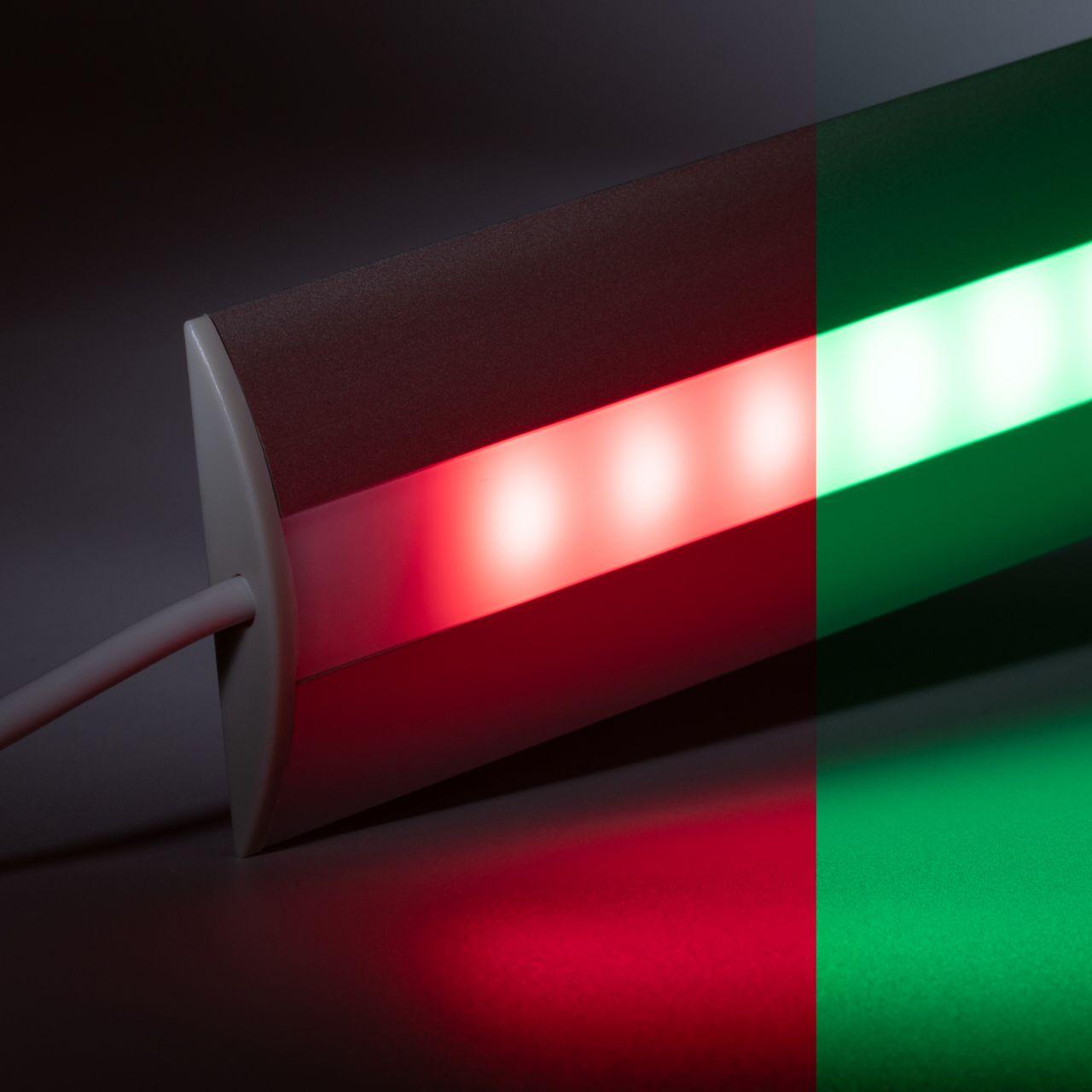 12V Aluminium Türschwellen LED Leiste - RGB - diffuse Abdeckung