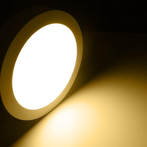 LED-Deckenleuchte rund diffus Ø225mm LED-Wandleuchte 18Watt 230V - warmweiß