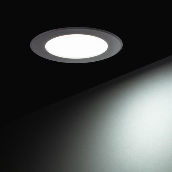 230V LED Einbauleuchte – weiß – 10cm – rund
