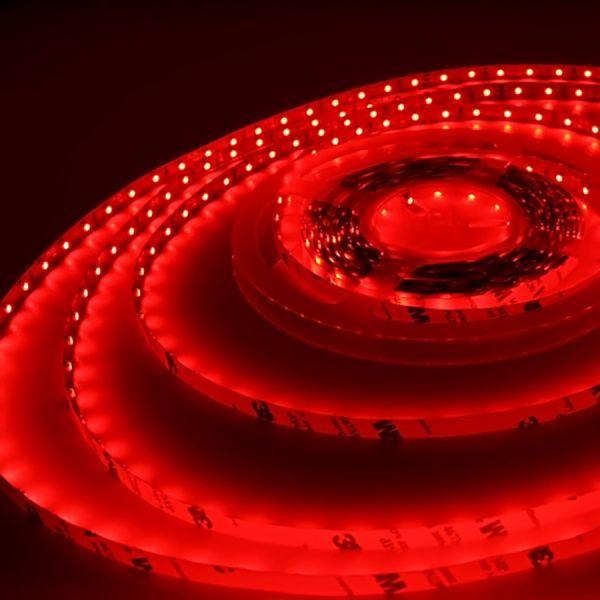 LED Streifen flexibel selbstklebend - LED-Strip 12V rot - je 5cm 3 LEDs (ab 10,00Euro/m)