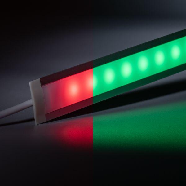24V Aluminium Einbau LED Leiste schmal – RGB – diffuse Abdeckung