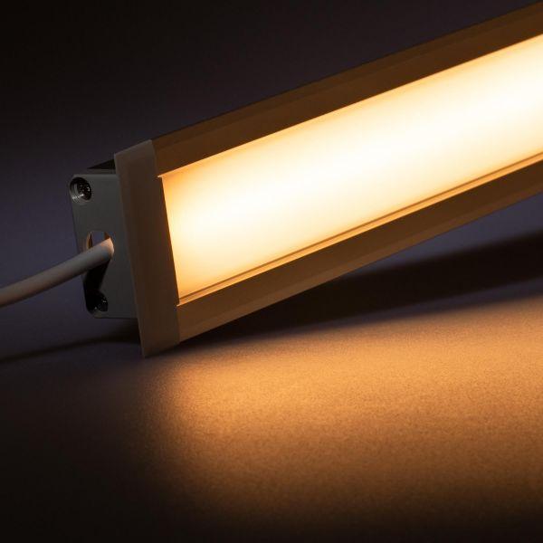 24V Aluminium Einbau LED Leiste – warmweiß – diffuse Abdeckung