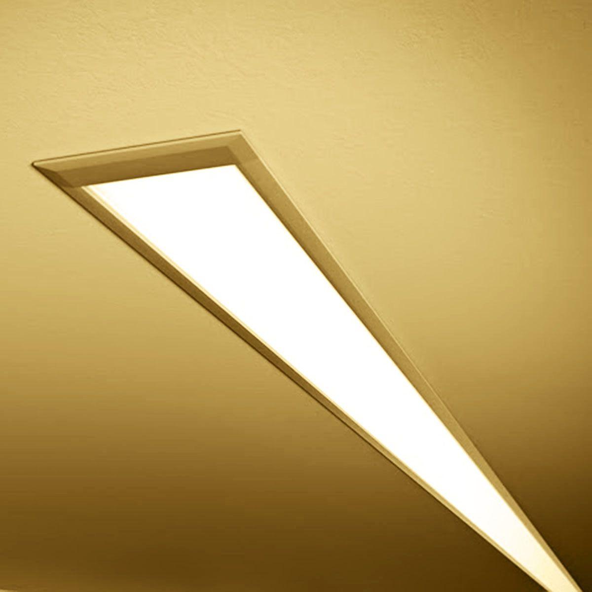 24V Aluminium LED Einbauleuchte – warmweiß – linear – diffuse Abdeckung