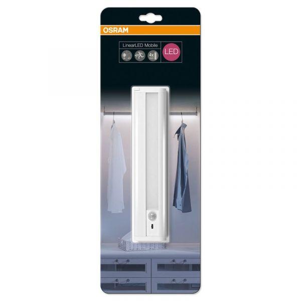 Osram LinearLED Mobile Schranklicht, Unterbauleuchte mit Batterie, Bewegungsmelder in Tageslichtweiß