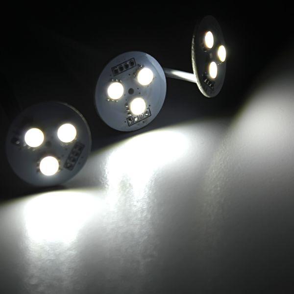 12V LED-Cluster rund 3x 5730 SMD-LEDs fertig verkabelt - weiß 120°