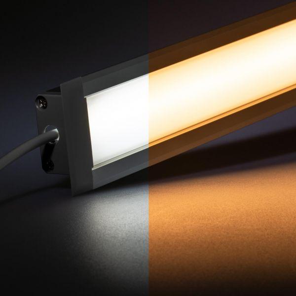 24V wasserfeste Aluminium Einbau LED Leiste - einstellbare Farbtemperatur - diffuse - IP65