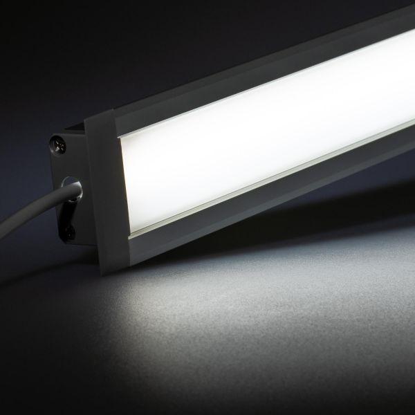 24V Aluminium Einbau LED Leiste – weiß – diffuse Abdeckung