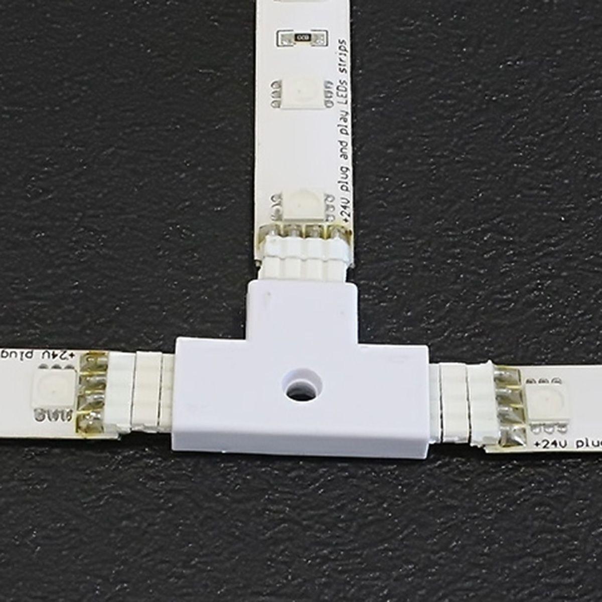Quick-System 4polig 2.54 – 3x4poliger T-Verbinder – weiß