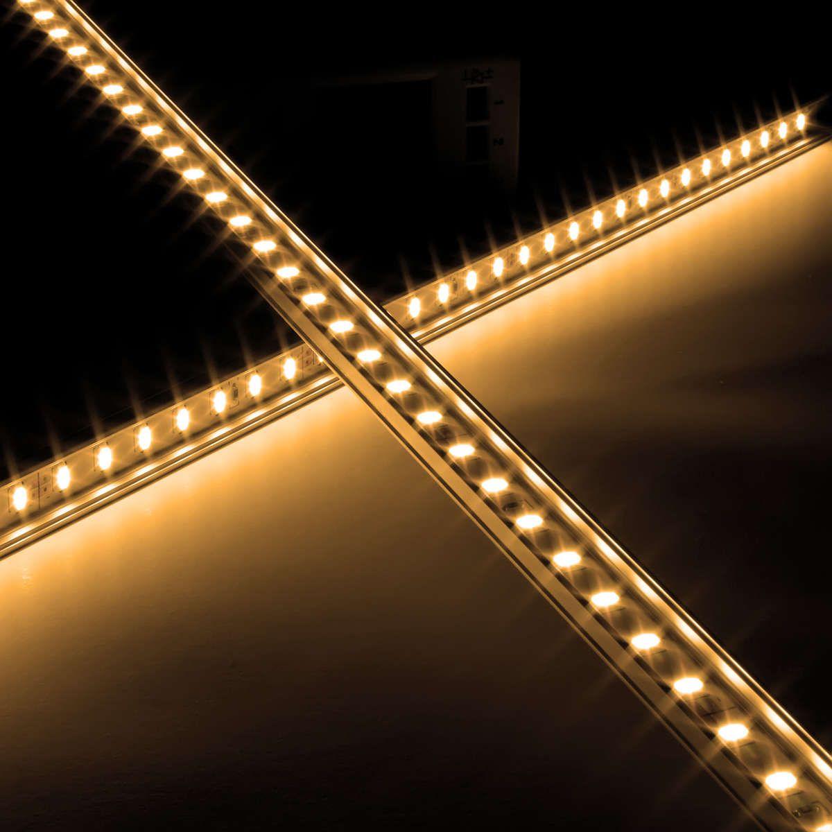 12V Slim-Line Aluminium High Power LED Leiste – warmweiß – transparente Abdeckung