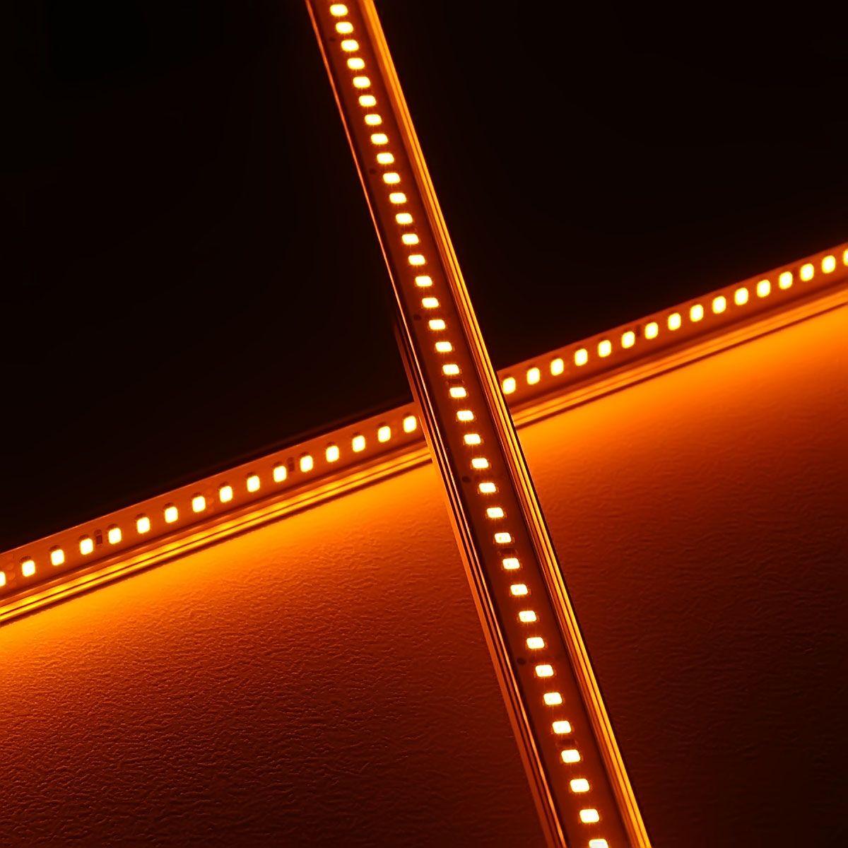 24V Slim-Line Aluminium LED Leiste – gelb – transparente Abdeckung
