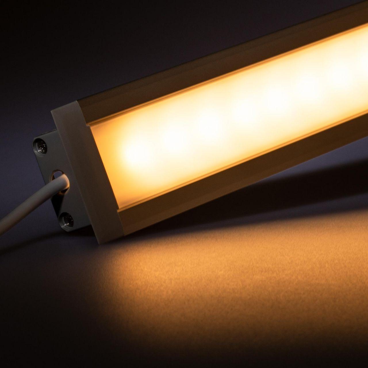 12V Aluminium Einbau LED Leiste – warmweiß – diffuse Abdeckung
