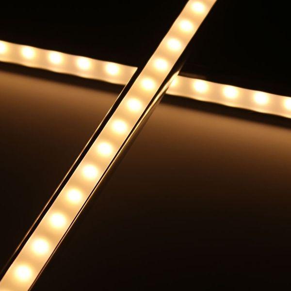 Aluminium-LED-Lichtleiste diffus warmweiß 24V - ab 22cm 14x 5630 High-Power-LEDs bis 202cm mit 140x