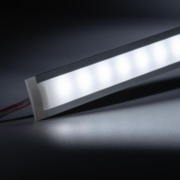 12V Aluminium Einbau LED Leiste schmal – weiß – diffuse Abdeckung