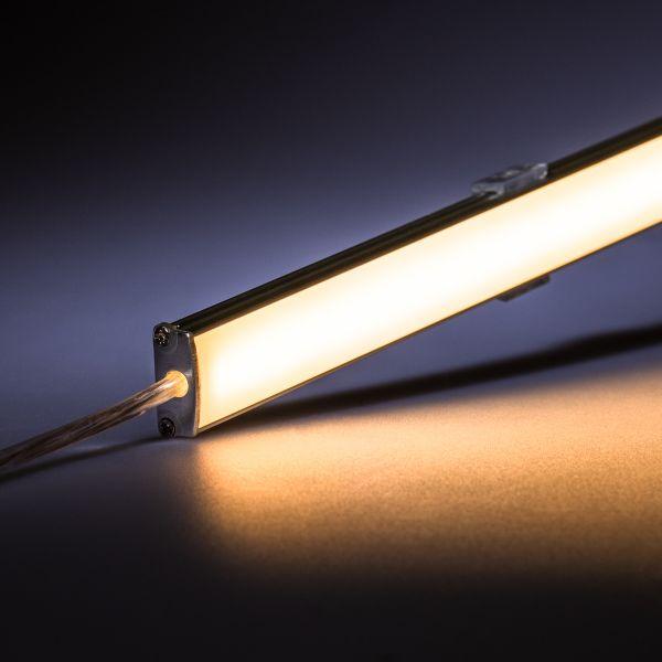 12V wasserfeste Aluminium LED Leiste – warmweiß – 100cm– diffuse Abdeckung – IP65