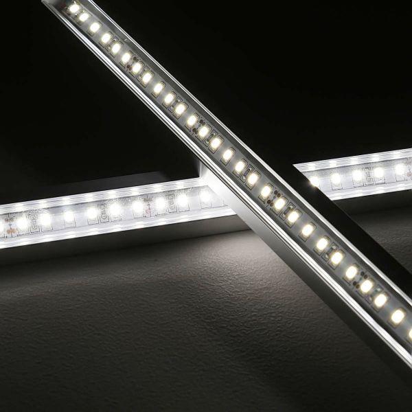 24V LED-Eckleiste mit klarer Abdeckung - weiß 6000K - ab 33cm mit 42 LEDs bis 198cm mit 273 LEDs