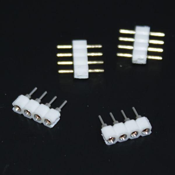 Quick-System 4polig 2.54 – 2 x 4Pin lötbare Steckerbuchsen & 2 Direktverbinder