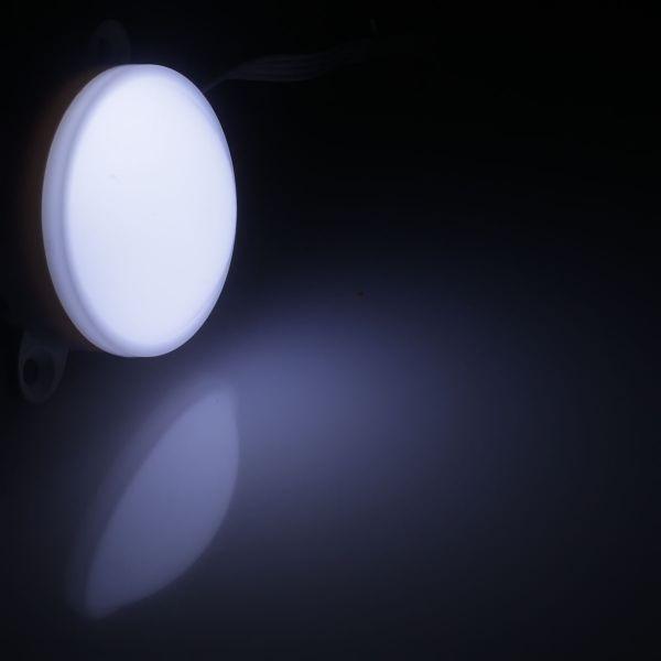 wasserfestes LED Modul mit 14 x 2835 LEDs rund - weiss 24V diffus