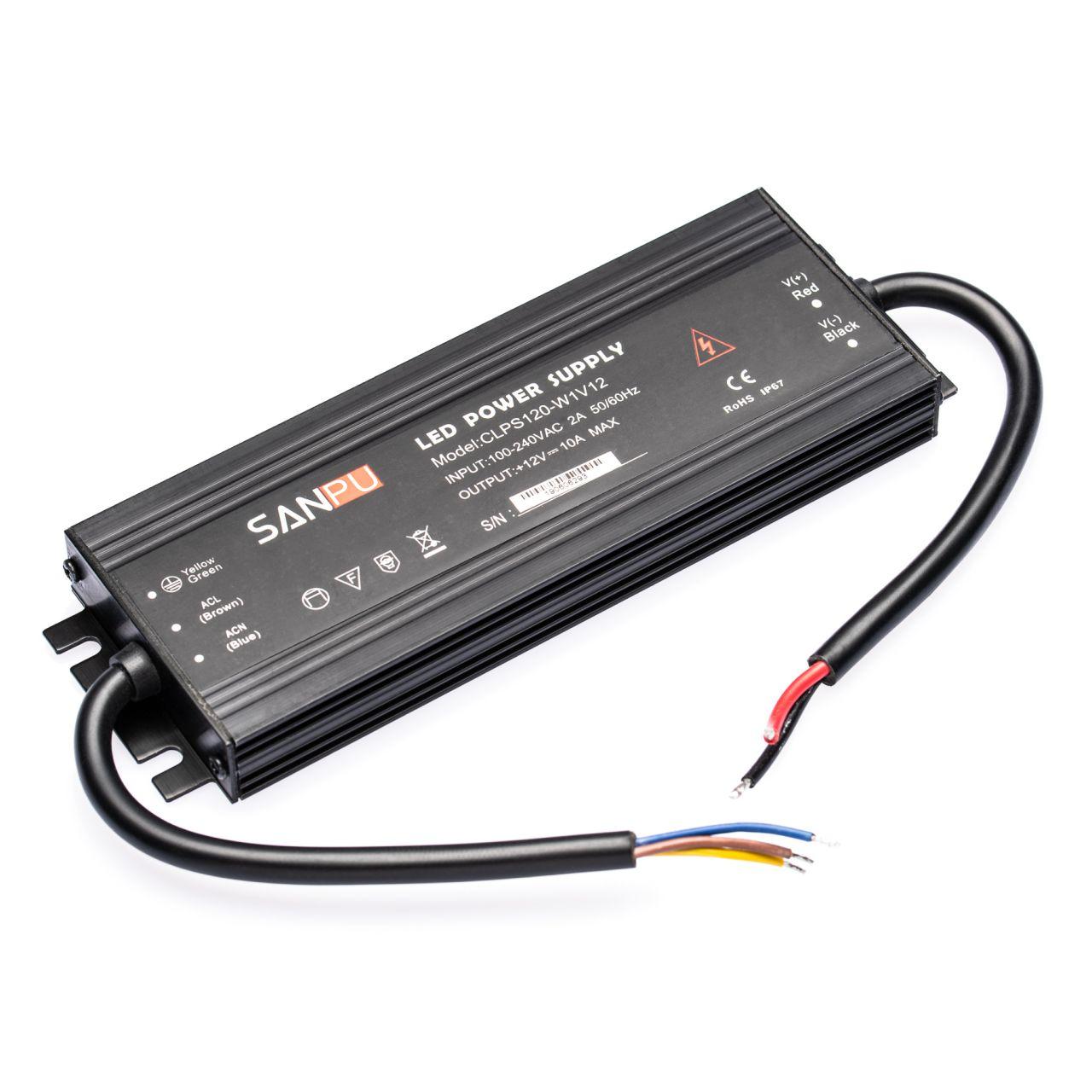 12V DC – wasserfestes Netzteil stabilisiert – 10A – 120Watt – IP67