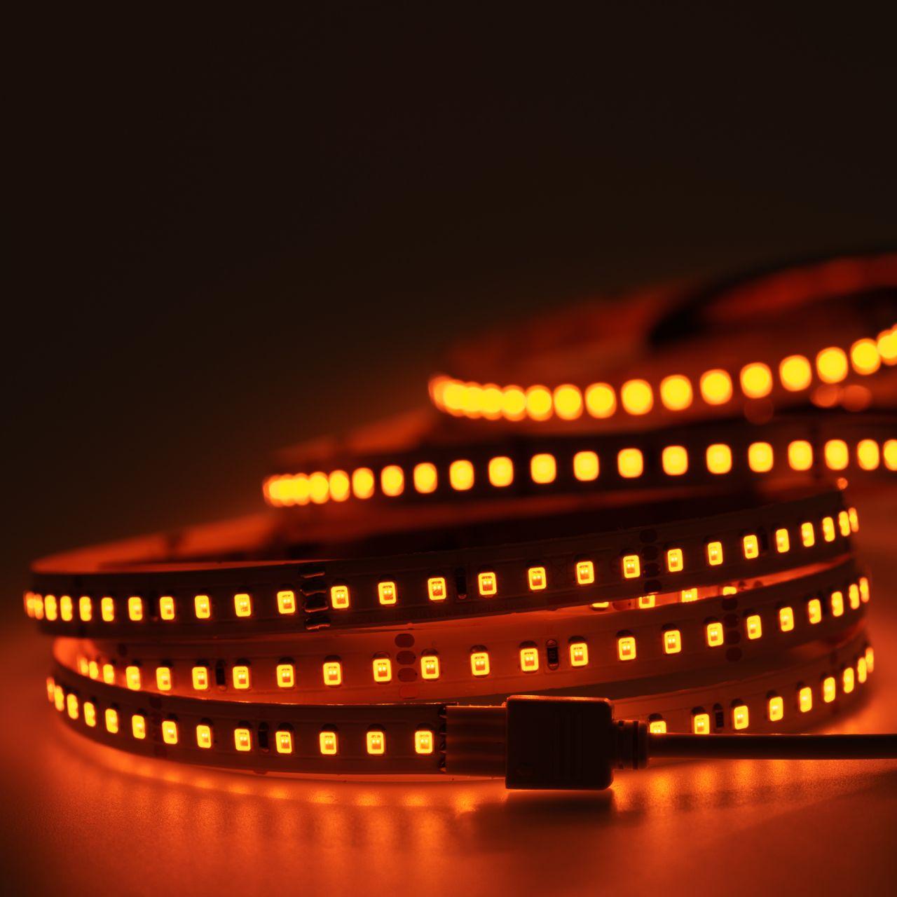 24V LED Streifen – gelb-orange – 140 LEDs je Meter – alle 5cm teilbar
