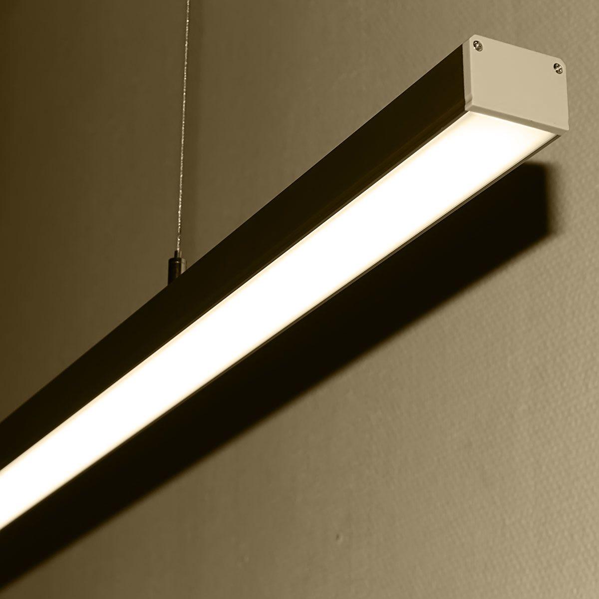 24V Aluminium LED Pendelleuchte – tageslichtweiß – linear – diffuse Abdeckung