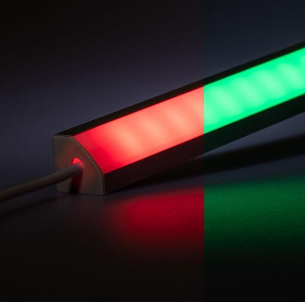 24V Aluminium LED Eckleiste – RGB – diffuse Abdeckung