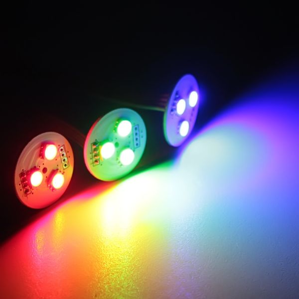 12V LED Cluster – RGB – 2,6cm – rund