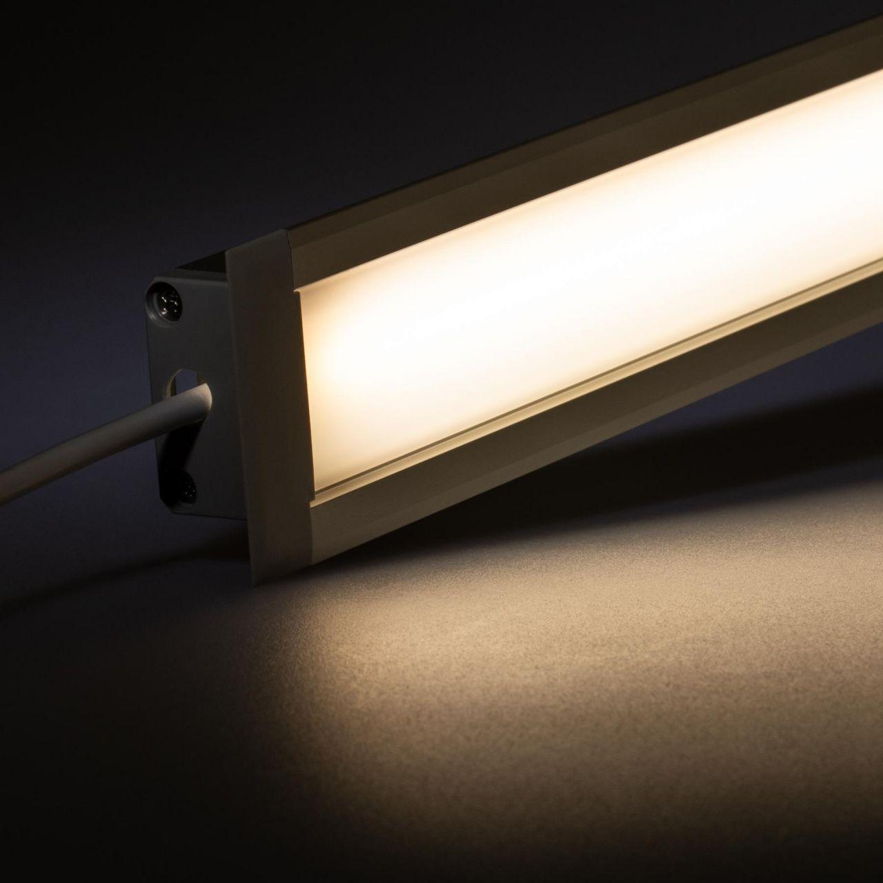 24V Aluminium Einbau LED Leiste – tageslichtweiß – diffuse Abdeckung