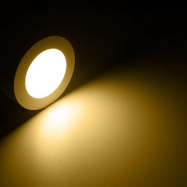230V LED Aufbauleuchte – warmweiß – 12cm – rund