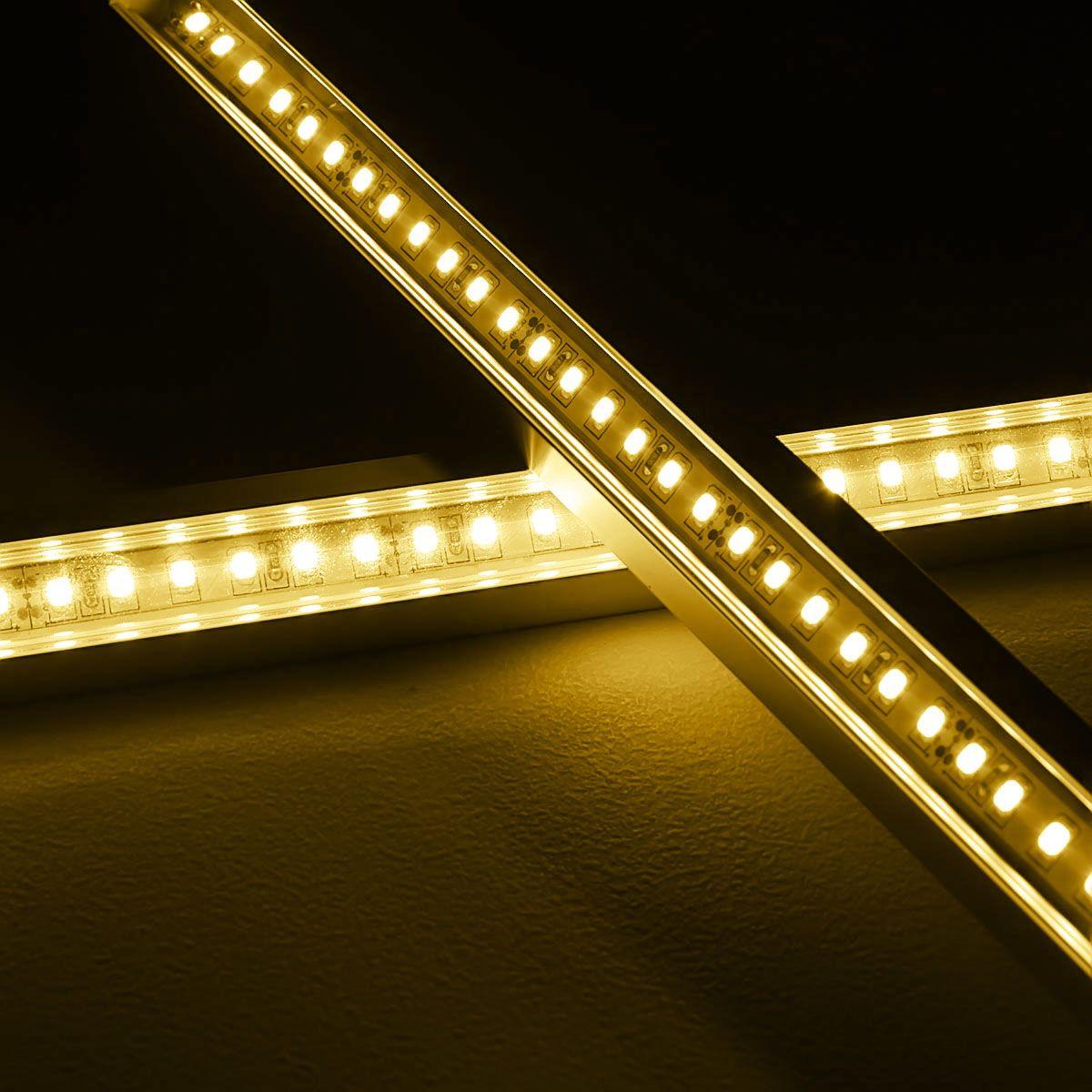 24V Aluminium LED Eckleiste – warmweiß – transparente Abdeckung